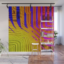 Blue, Gold, Purple Wall Mural