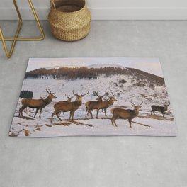 The Gathering of Stags Rug