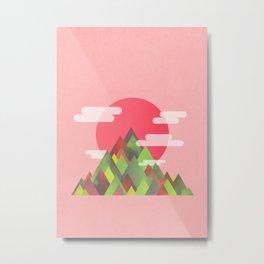 Cloudy Peaks Metal Print