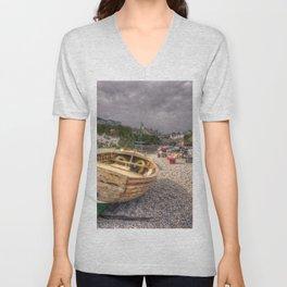 Beer Beach Boat Unisex V-Neck