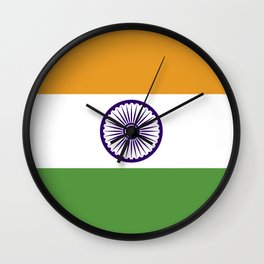 india country flag Wall Clock