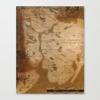 westeros Canvas Prints featuring Fantasy Map of New York: Gritty Parchment by Midgard Maps