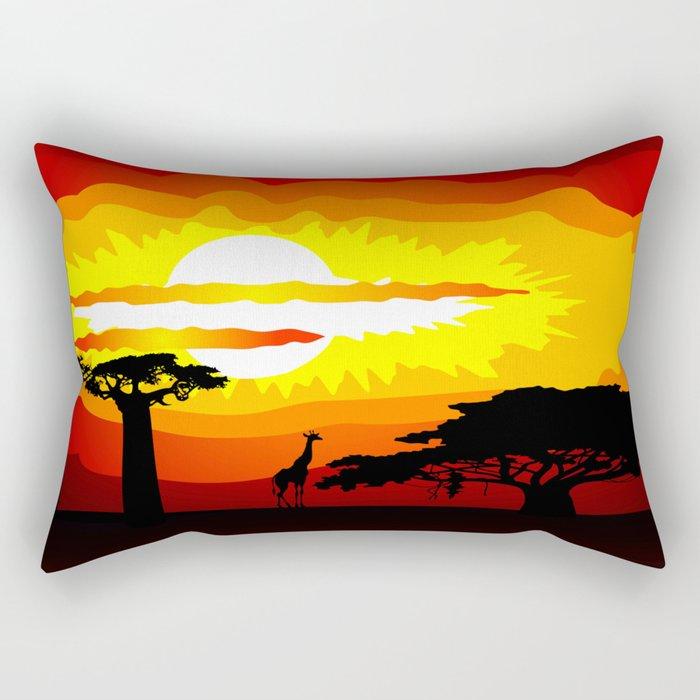 Africa sunset Rectangular Pillow