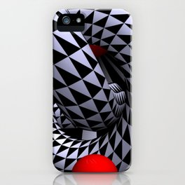 red white black -12- iPhone Case