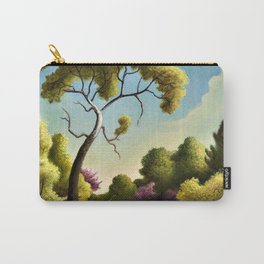 Classical Masterpiece 'Clay Country Farm' by Thomas Hart Benton Carry-All Pouch