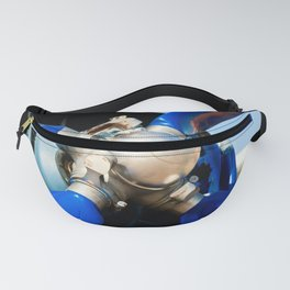 Blue Propeller Of The Vintage Piston Engine Aircraft Fanny Pack