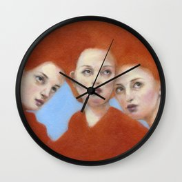 Mama & Her Babes Wall Clock