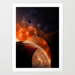 Space Valley Art Print