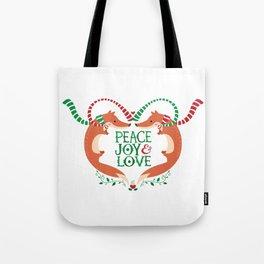 Peace, Joy, Love Tote Bag