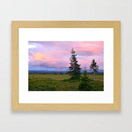 Sunset over the Barren Framed Art Print