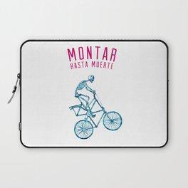 """Skeleton Bike - """"Montar Hasta Muerte"""" Laptop Sleeve"""