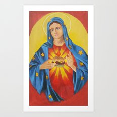 Our Lady of the 6 Dollar Burger Art Print
