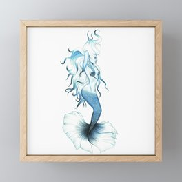 Blue Mermaid Framed Mini Art Print