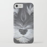 schnauzer iPhone & iPod Cases featuring Schnauzer by Christina Zoernig