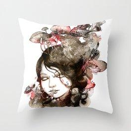 Metamorphosis of a fading memory Throw Pillow
