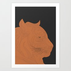 All lines lead to the...Inverted Tiger Art Print