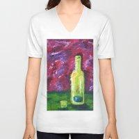 fairies V-neck T-shirts featuring Green Fairies by Blanc Canvas Studios