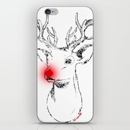 Rudolph and his red nose iPhone Skin
