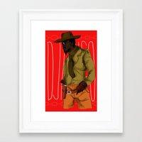 django Framed Art Prints featuring Django  by Zapblog-Roxane