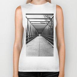 Bridge to Nowhere Black and White Photography Biker Tank