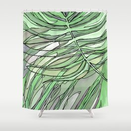 pale green palms Shower Curtain
