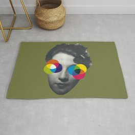 Psychedelic glasses Rug