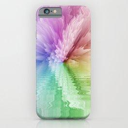 Rainbow Tie Dye Floral Flower iPhone Case