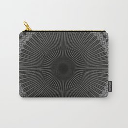 Modern Black and white Mandala Carry-All Pouch