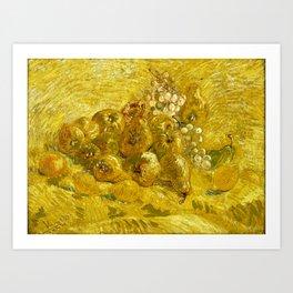 Quinces, Lemons, Pears and Grapes, by Vincent van Gogh Art Print