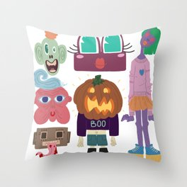 Nightmare material Throw Pillow