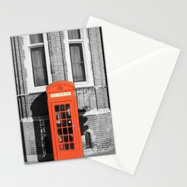 London Calling Red Telephone Phone Booth Stationery Cards
