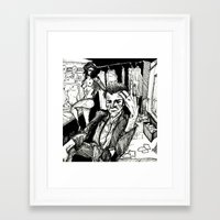 tom waits Framed Art Prints featuring TOM WAITS by Simone Bellenoit : Art & Illustration