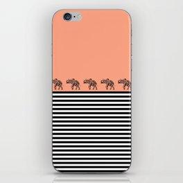 ELEPHANT & STRIPES CORAL iPhone Skin