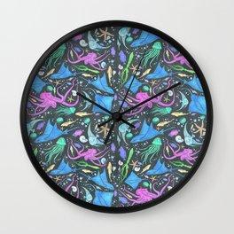 Colorful Marine Life Diversity Wall Clock