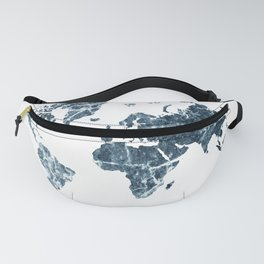 blue marble map Fanny Pack