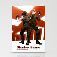 stucky Stationery Cards featuring shadow burns by Hill