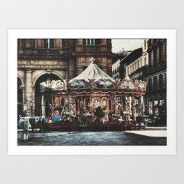 The Carousel II Art Print