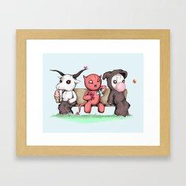 Evil Day Off Framed Art Print