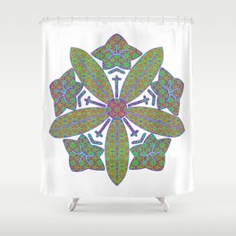 zen soto crest Shower Curtain