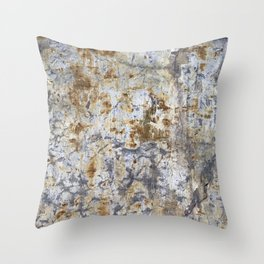 Yellow Painted Wall Warm Throw Pillow