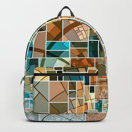 Elegant Abstract Tainted Squares Backpack