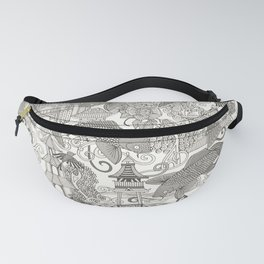 chinoiserie toile mono Fanny Pack