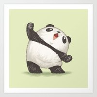 panda Art Prints featuring Panda by Toru Sanogawa