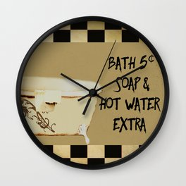Bath 5 cents Bathroom Art Wall Clock