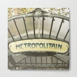 Abbesses Metal Print