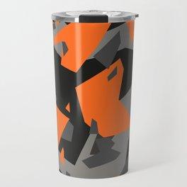 Black\Grey\Orange Geometric camo Travel Mug
