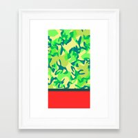 camo Framed Art Prints featuring Camo by Ryan Ingram