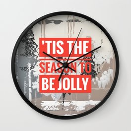 Snowfall - 'Tis the season Wall Clock