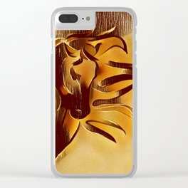 Sandstorm. Freedom of Expression. Clear iPhone Case