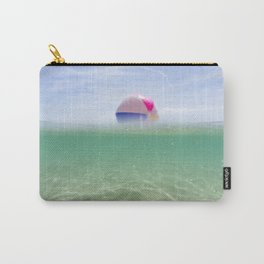 above and below clear blue sea with beach ball Carry-All Pouch